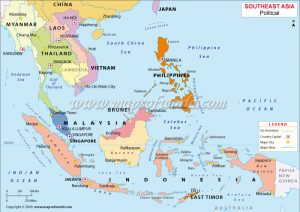 Malaysia Philippines Singapore map - APM