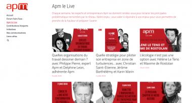 Covid-19 : 100 experts Apm et 30 Apm le Live pour les entrepreneurs